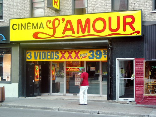 """Cinema L'amour and a strawberry milkshake"" (photo by Flickr user Francis Mariani)"