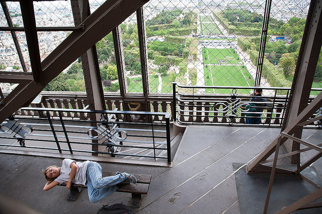 Top Of Eiffel Tower Stairs : The case of cunning linguist buttontapper press