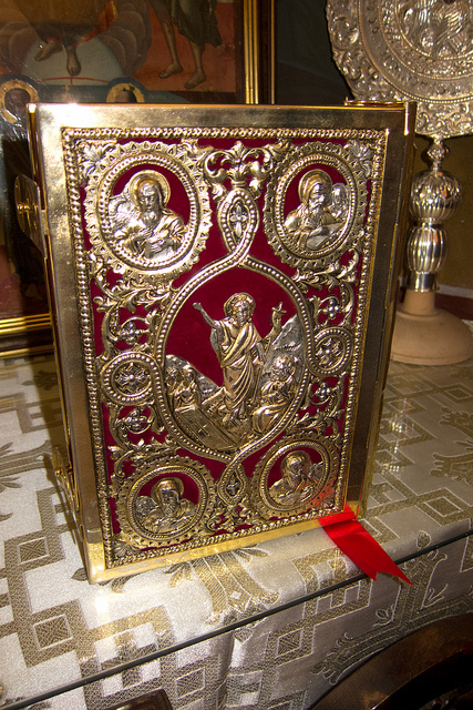 """""""Gold-plated bible"""" image by Flickr user Thomas Quine"""